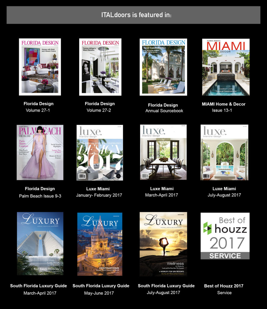 ITALdoors is featured in different magazine Publications